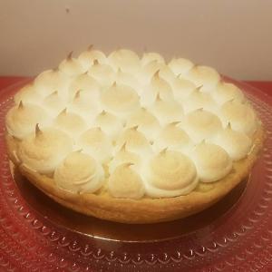 Franse rabarber meringue taart