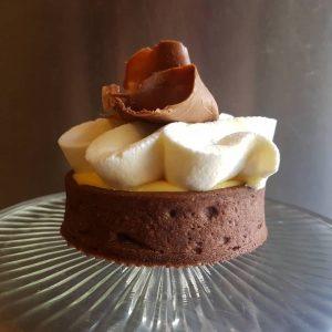 Banaan chocolade tartelette (per 5)