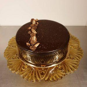 Desserttaart pure chocolade karamel